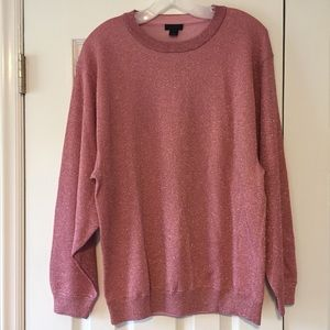 J. Crew Collection Pink Sparkle Sweater